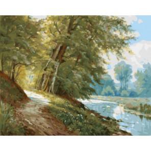 Вдоль берега реки Раскраска картина по номерам на холсте