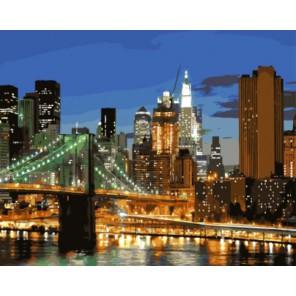 Городские огни Раскраска картина по номерам акриловыми красками на холсте | Картина по номерам купить