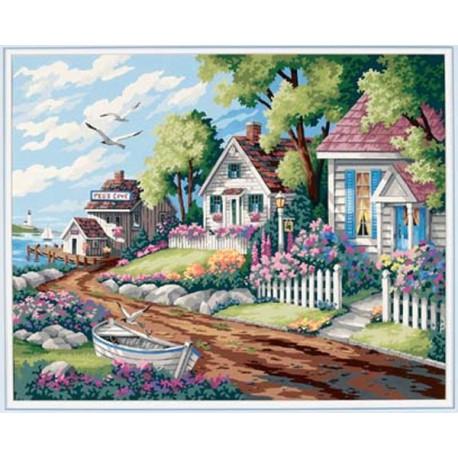 Домики у моря 91290 Раскраска по номерам Dimensions