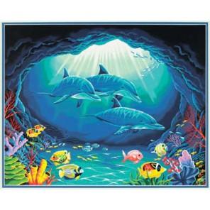 Подводный рай 91302 Раскраска по номерам Dimensions