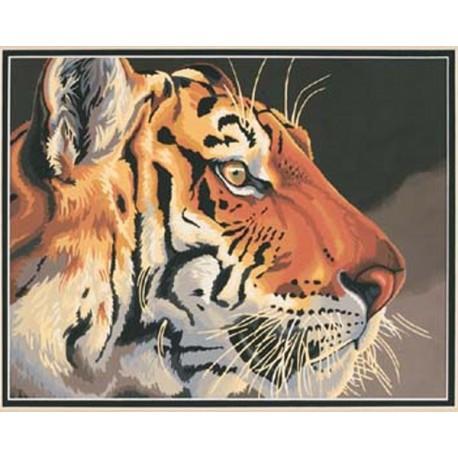 Тигр 91323 Раскраска по номерам Dimensions
