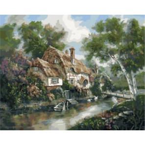 Домик у реки Карла Валенте Раскраска картина по номерам акриловыми красками на холсте