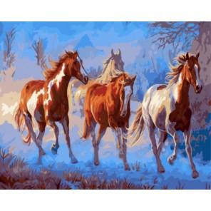 Лошади в сумерках Криса Каммингса Раскраска картина по номерам акриловыми красками на холсте