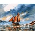 Парусник с алыми парусами Раскраска картина по номерам акриловыми красками на холсте