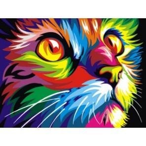 Радужный кот Ваю Ромдони Раскраска картина по номерам акриловыми красками на холсте | Картина по цифрам купить