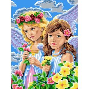 Ангелочки Раскраска картина по номерам акриловыми красками на холсте   Картина по цифрам купить