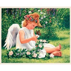 Милый ангел 91312 Раскраска по номерам акриловыми красками Dimensions