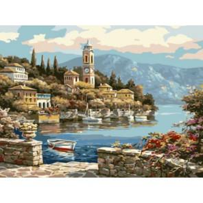 Уютный городок Раскраска картина по номерам акриловыми красками на холсте