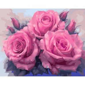 Алые розы (художник Анна Лакисова) Раскраска картина по номерам акриловыми красками на холсте   Картина по цифрам купить