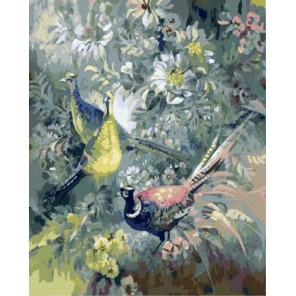 Раскраска по номерам  Голубое (художник Римма Вьюгова) картина 40х50 см на холсте