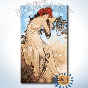 Времена года. Лето (Альфонс Муха) Раскраска картина по номерам акриловыми красками на холсте Hobbart