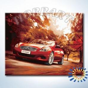 HB4050349 Раскраска по номерам Удовольствие скорости картина 40х50 см на холсте