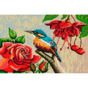 АМТ260-3020 Птичка среди роз Алмазная мозаика на твердой основе Iteso
