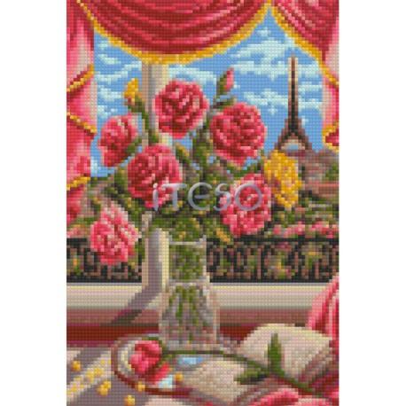 АМТ270-2030 Окно в Париж Алмазная мозаика на твердой основе Iteso