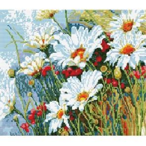 GZ111 Ромашковая поляна Алмазная мозаика вышивка на подрамнике Molly