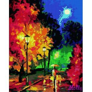 GL048 Ночные фонари (Леонид Афремов) Алмазная мозаика стразами на подрамнике Molly