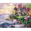 Шумный берег ( художник Ники Боэм) Раскраска картина по номерам акриловыми красками на холсте Белоснежка