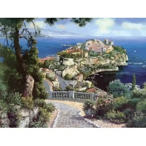627-AB Княжеский дворец в Монако Раскраска картина по номерам акриловыми красками на холсте Белоснежка