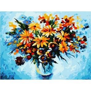 3012-CS Разноцветные ромашки Раскраска картина по номерам акриловыми красками на картоне Белоснежка