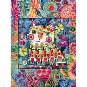 124-AS Кот в окошке Раскраска картина по номерам акриловыми красками на холсте Белоснежка