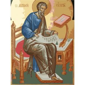 Святой Апостол и Евангелист Матфей Раскраска по номерам акриловыми красками на холсте Menglei