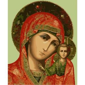 Казанская икона Божьей Матери Раскраска по номерам акриловыми красками на холсте Menglei