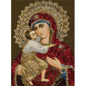 Феодоровская икона Божией матери Раскраска по номерам акриловыми красками на холсте Menglei