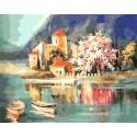На рассвете. Италия Раскраска картина по номерам акриловыми красками на холсте Menglei