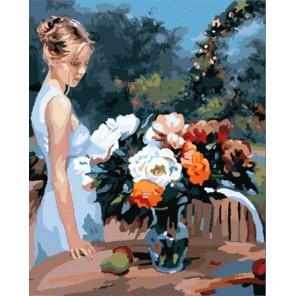Любуясь пионами (художник Владимир Волегов) Раскраска картина по номерам акриловыми красками на холсте