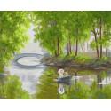 Романтический пейзаж Раскраска картина по номерам акриловыми красками на холсте