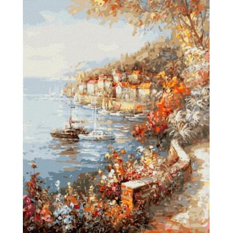 GX8228 Средиземноморское утро (художник Алексей Хлебников) Раскраска картина по номерам акриловыми красками на холсте