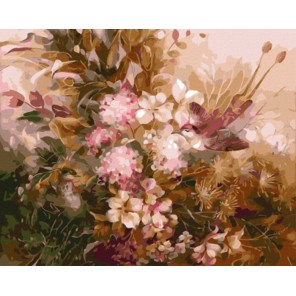 GX8209 Райские птички (художник Римма Вьюгова) Раскраска картина по номерам акриловыми красками на холсте