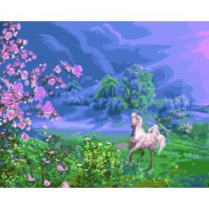 Весна в горах Раскраска картина по номерам акриловыми красками на холсте