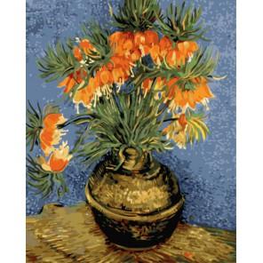 Натюрморт с цветами в бронзовой вазе (Ван Гог) Раскраска картина по номерам акриловыми красками на холсте
