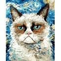 Котик Раскраска картина по номерам акриловыми красками на холсте