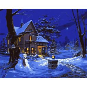 GX8109 Однажды зимней ночью (художник Майкл Хамфрис) Раскраска картина по номерам акриловыми красками на холсте
