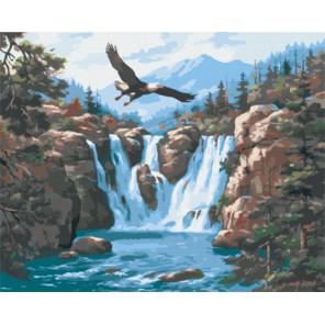GX8129 Полет орла (художник Сем Ким) Раскраска картина по номерам акриловыми красками на холсте