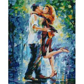Влюблённые (художник Леонид Афремов) Раскраска картина по номерам акриловыми красками на холсте