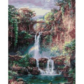 GX8190 Райский водопад Раскраска картина по номерам акриловыми красками на холсте