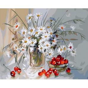 Букет ромашек Раскраска картина по номерам акриловыми красками на холсте Molly