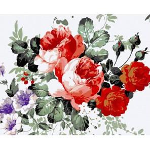 Цветочная композиция Раскраска картина по номерам акриловыми красками на холсте Molly