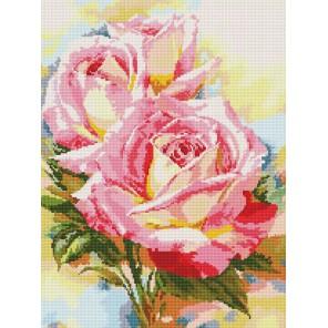 Чайные розы Алмазная мозаика вышивка на подрамнике Molly