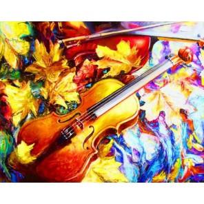 Осенняя скрипка Алмазная вышивка (мозаика) на подрамнике Color Kit