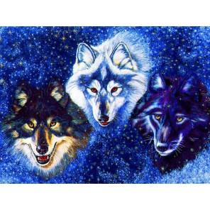 Снежные защитники Алмазная частичная вышивка мозаика на подрамнике Color Kit