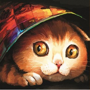 Котишка-шалунишка Раскраска картина по номерам акриловыми красками Color Kit