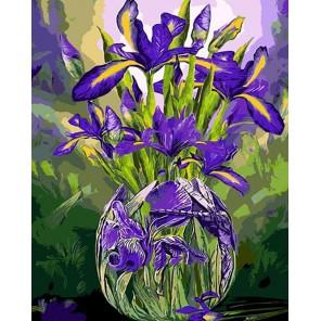 MG6110 Букет весенних ирисов Раскраска картина по номерам акриловыми красками на холсте Menglei