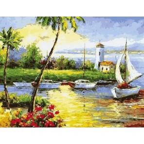 MG6104 Солнечный берег Раскраска картина по номерам акриловыми красками на холсте Menglei