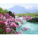 Альпийская весна Раскраска картина по номерам акриловыми красками на холсте Menglei