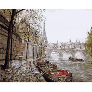 MG6022 Прогулки по Сене Раскраска картина по номерам акриловыми красками на холсте Menglei