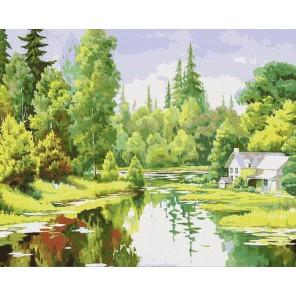 Лесная идиллия Раскраска картина по номерам акриловыми красками на холсте Menglei